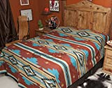 Mission Del Rey's Western Chevron Bedding Collection (Queen Bedspread 88x96, Rust)