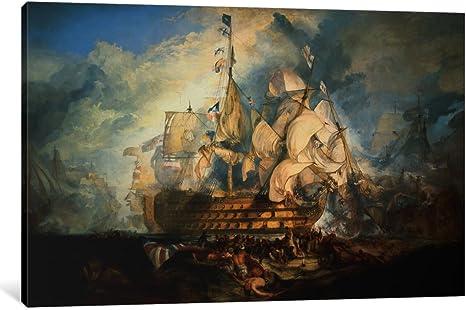 CANVAS WALL ART PRINT ARTWORK J M W TURNER The Battle of Trafalgar