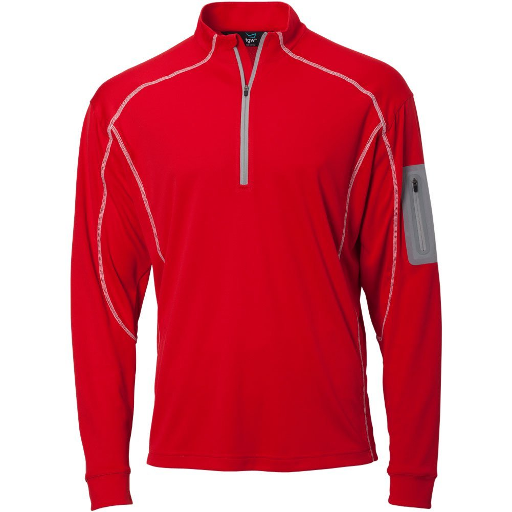 TGW Mens Tour 1/4 Zip Pullover Red S