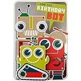 Hallmark Birthday Card For Boy 'Robot Bookmark' - Medium