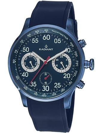 Radiant Reloj Cronógrafo para Hombre de Cuarzo con Correa en Caucho RA444603: Amazon.es: Relojes