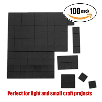 Amazon netany 100pcs flexible magnet squares magnets for netany 100pcs flexible magnet squares magnets for crafts adhesive magnets magnetic tape reheart Images