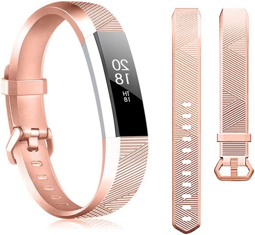 Soft Elastomer Replacement Sport Strap,Wristbands Accessories for Women Man Small Large Replacement Bands Compatible for Fitbit Alta and Alta HR Bands