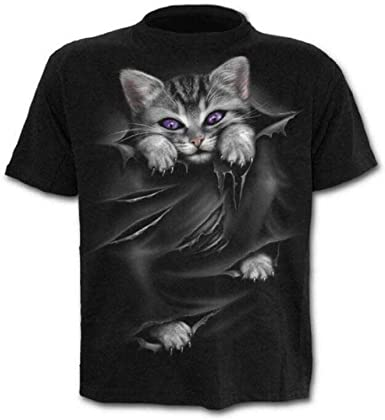 C0y23 - Camisa de Gato - Camiseta - Camisa de Gatito - 3D - Manga Corta - Hombre - Unisex - Mujer - Divertido - niños - Cosplay - felino - Dulce - Kawaii: Amazon.es: Ropa y accesorios