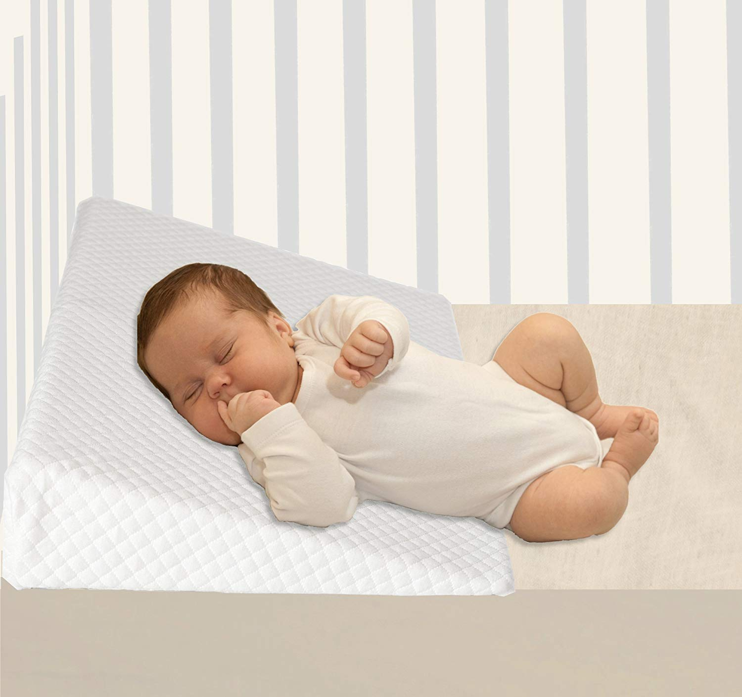 Baby Hiccapop Foldable Safe Lift Universal Crib Wedge For Baby Mattress And Sleep Ideal Gift For All Occasions Bed Pillows