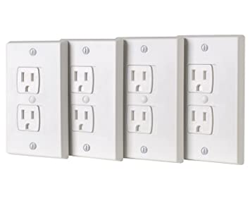 Amazon Com Baby Safety Power Outlet Wall Cover Tamper Resistant