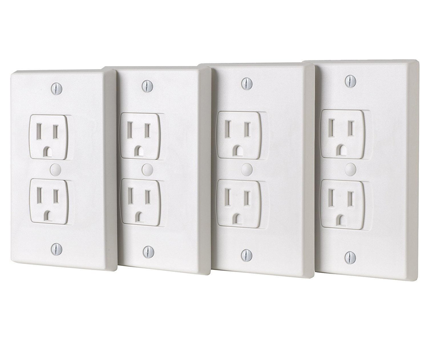 Ziz Home Self-Closing Outlet Covers | 4 Pack | White | Universal Electric Outlet Cover - Baby Proof Kit - Child Safety Wall Socket Plug – Durable ABS Plastic - Protection | Proofing | Childproof by Ziz Home (Image #6)