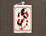 Happy Krampus Happy Christmas 8oz Flask