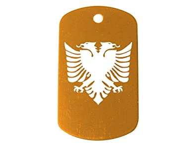 Dark Gold Dog Tag Kit With 24 Chain Silencer Double Headed Eagle Crest