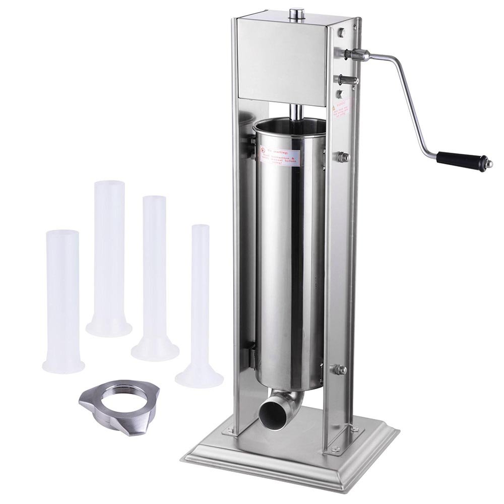 7L 20lbs Two Speed Vertical Commercial Stainless Steel Sausage Stuffer Restaurant Meat Pork Yescom