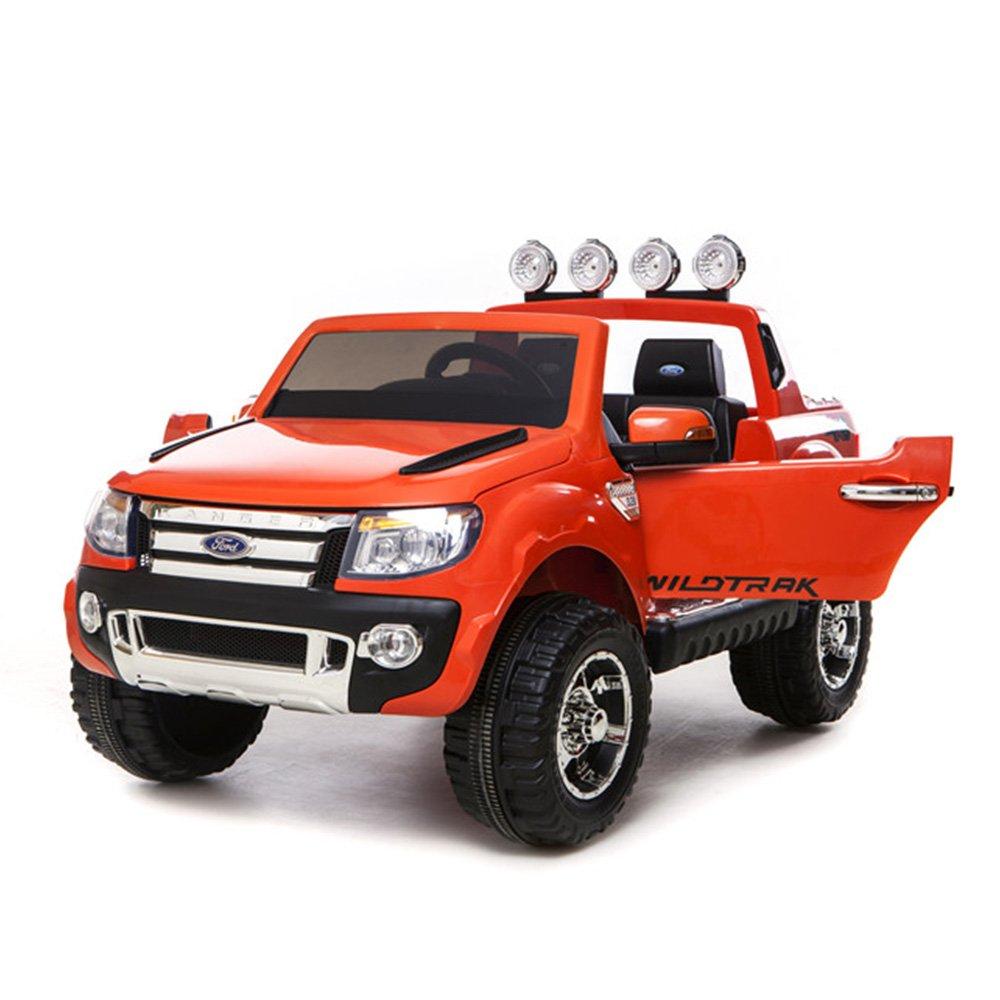 乗用ラジコンフォード レンジャー スタンダード(FORD RANGER) 超大型!二人乗り可能! Wモーター フォード 品のハイクオリティ ペダルとプロポで操作可能な電動 (オレンジ) B017QVGVZI 04.オレンジ