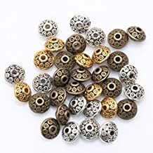 ILOVEDIY Mixed Color Tone Spacer Beads Findings for Jewelry Making 6mm 100pcs