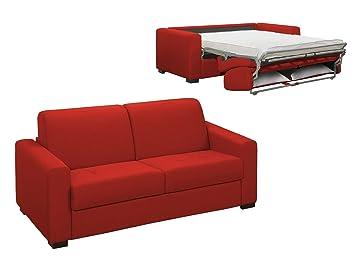 Mobilier Deco Schlafsofa 3 Sitzer Rot Schlafsack 2 Personen Amazon