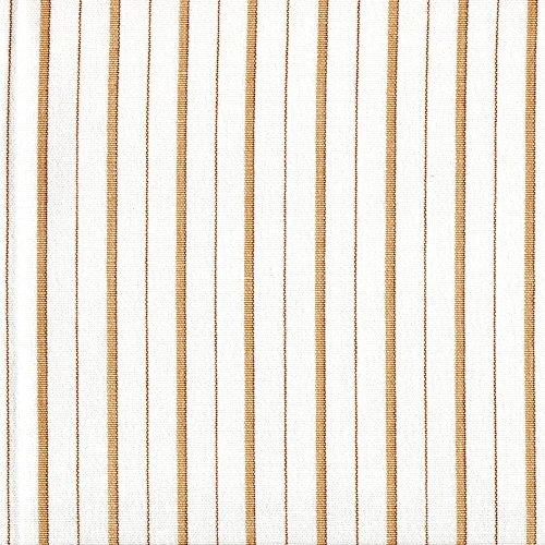 """Tailored 22"""" Piper Sand Brown Stripe Cal King Bedskirt Cotton"""
