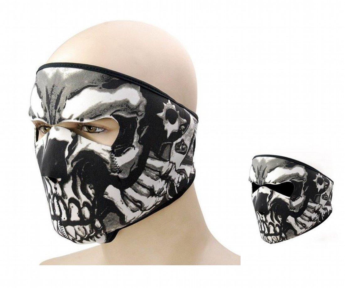 Reversible Mascarilla completa Cráneo \ Negro Máscara de neopreno Antipolvo Bicicleta Motocicleta Carreras Esquí Media mascarilla Paintball ARUNDEL SERVICES EU