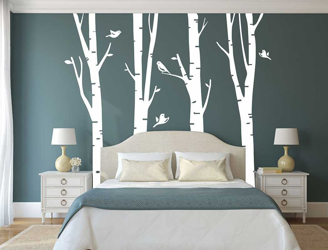 stunning stickers arbre blanc chambre bebe contemporary. Black Bedroom Furniture Sets. Home Design Ideas