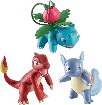 Bizak Pokemon - Pack de 3 Figuras - Wartortle, Charmeleon, Ivisaur ...