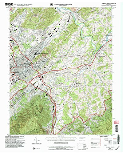 Johnson City TN topo map, 1:24000 scale, 7.5 X 7.5 Minute, Historical, 2003, updated 2004, 27.4 x 21.9 IN - Paper