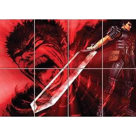 Amazon.com: Berserk Guts. Gigante Mural de impresión B617 ...