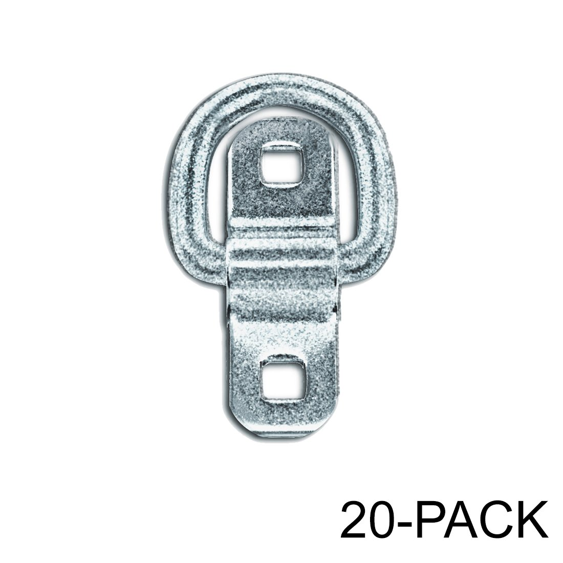 Heavy Duty USA Tiedown Anchors, Surface Mount D-Ring 6,000 lb. Capacity, 20-Pack