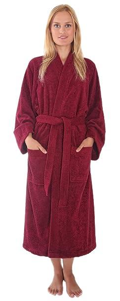 743e0c86a4 Arus Women s Atlantis Kimono Style Turkish Cotton Terry Cloth Bathrobe Robe