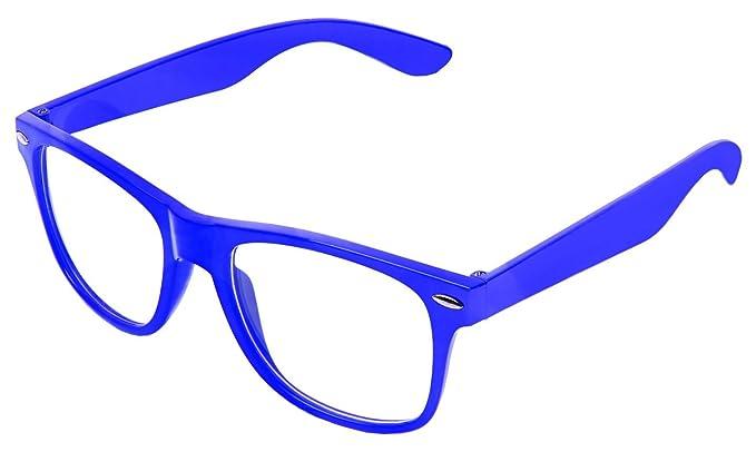 Boolavard Rétro Vintage couleur unisexe Punk Geek Wayfarer style Nombre  Zéro Effacer Objectif Lunettes de soleil b2a6eb995ca4