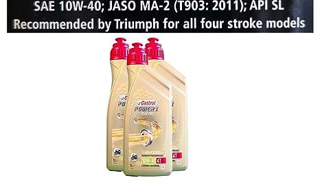 Castrol Power 1 Racing 4T 10 W-40 Aceite 3 x 1 litros Las especificaciones