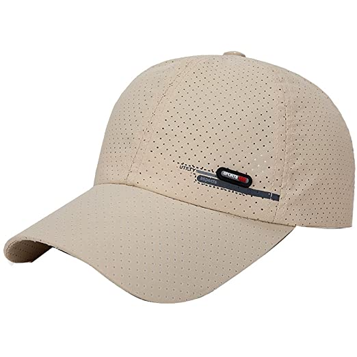 8edaf8ad ❤ Fulijie Venting Hole Baseball Golf Cap, Fashion Men Women Simpele  Adjustable Breathable Outdoor Golf Shade Visor Sun Hat Beige at Amazon Men's  Clothing ...