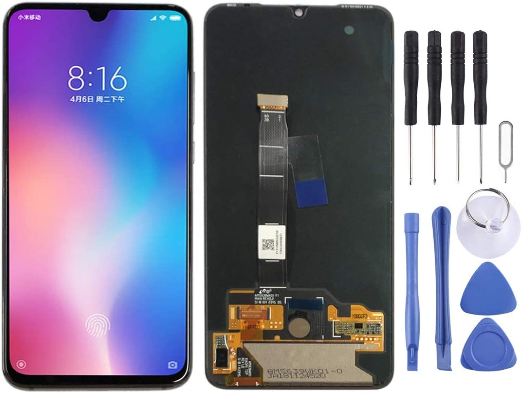 Black Color : White YANGJIAN LCD Screen and Digitizer Full Assembly for Xiaomi Mi Mix2