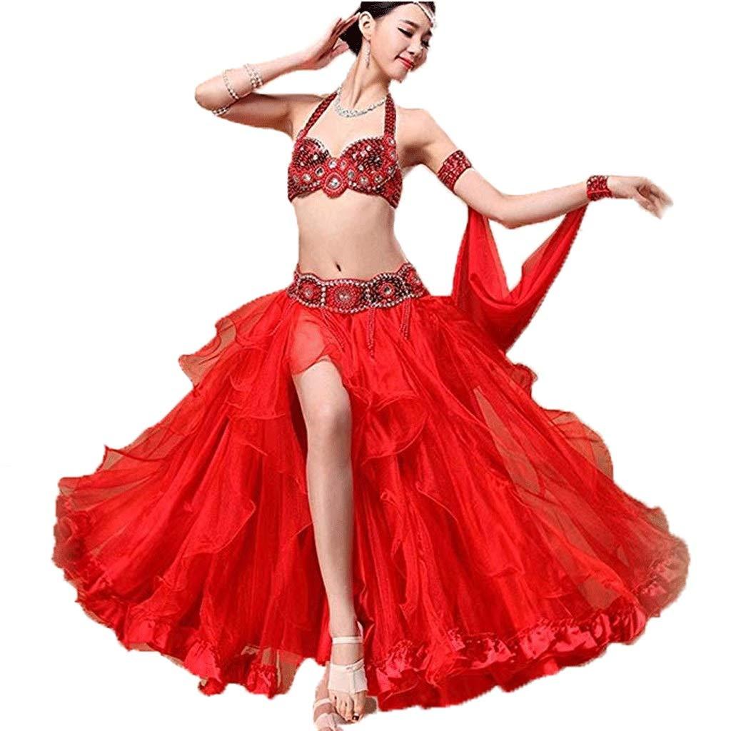 【送料無料】 女性のためのプロのベリーダンスダンスドレス衣装パフォーマンス衣料品スーツ女性 S、ビーズのブラジャー/スパンコールガードル/ビッグスイングスカート3本 B07Q4W5M18 S S s|レッド レッド S B07Q4W5M18 s, 仏壇職人関工作所:e865d2f2 --- a0267596.xsph.ru