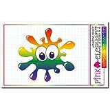 pinkelephant Aufkleber / Autoaufkleber Rainbow 29 - Splash - Fleck - 9 x 8,5 cm - Regenbogen
