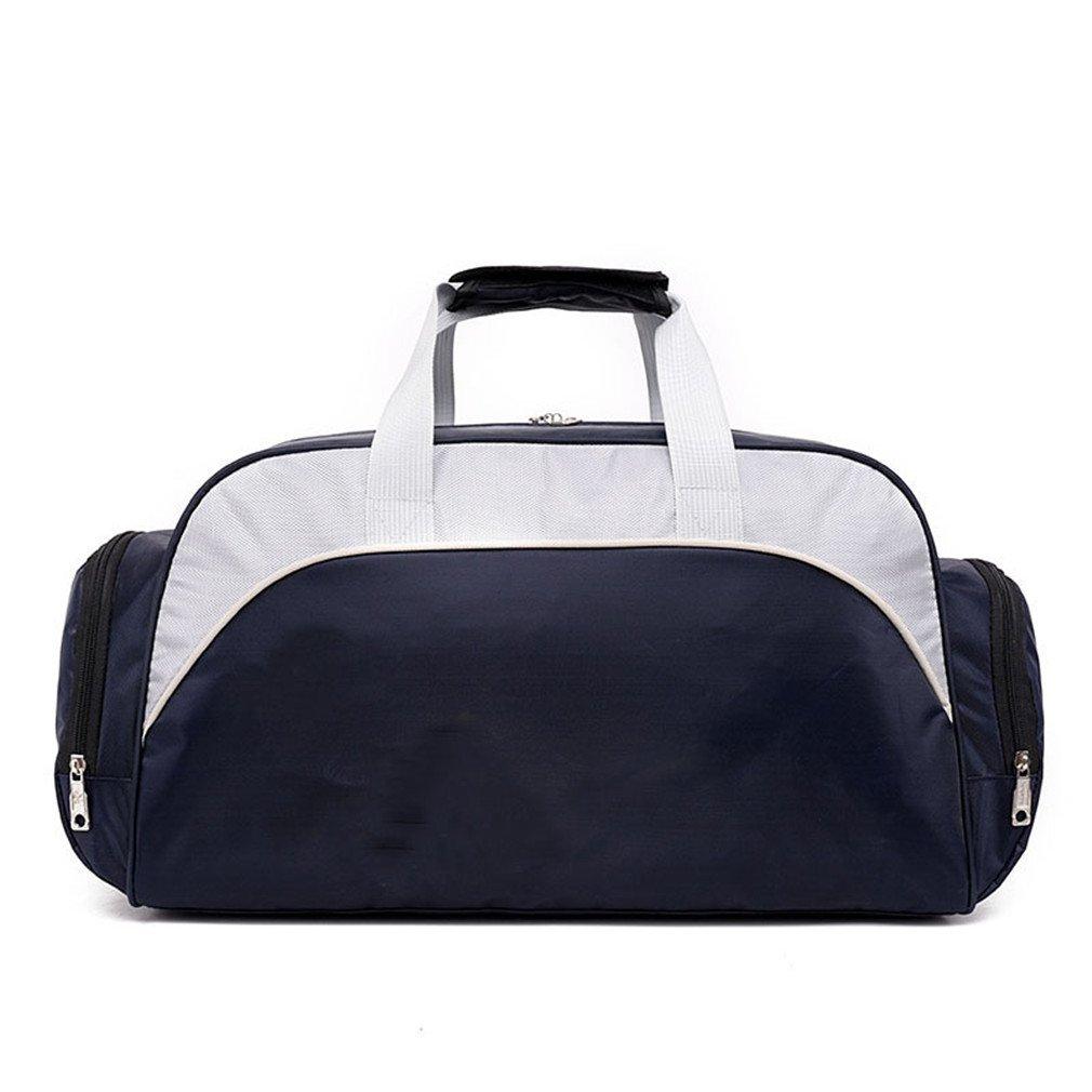 Breadaye Waterproof Travel Duffle Sport Handbag Single Shoulder Fitness Bags Gym Bag Sports Bags Deep Blue