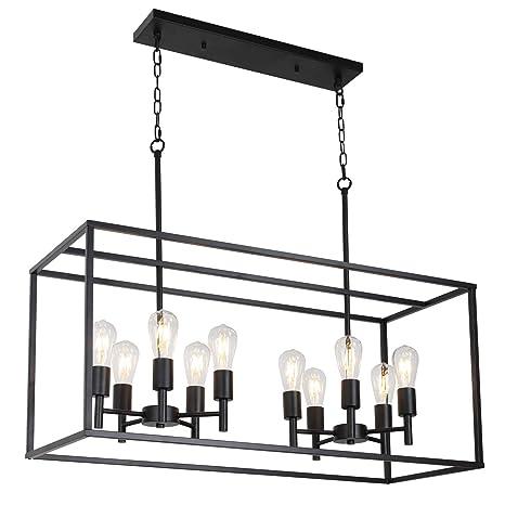 Amazon.com: VINLUZ - Lámpara de techo colgante de metal y ...