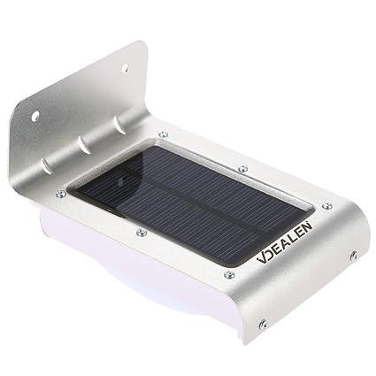 Vdealen Luces de pared con sensores de movimiento (solares, inalámbricas, impermeables, 16