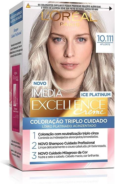 Coloração Imédia Excellence Ice Colors, L'Oréal Paris, 10.111 Flerte