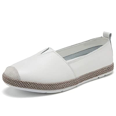 KEESKY 2020 New Leather Flats Loafers for Women | Loafers & Slip-Ons