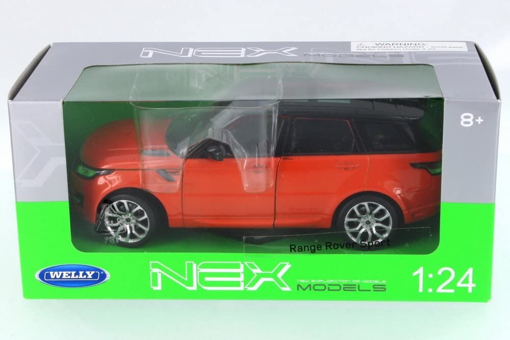 Welly 2015 Land Rover Range Rover Sport, Orange 24059W-OR - 1/24 Scale Diecast Model Toy Car