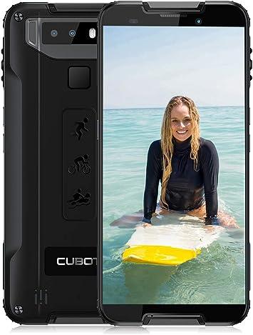 Móvil Libre Resistente (2020), CUBOT Quest Telefono Movil Antigolpes, 5.5 Pulgadas, 4GB RAM+64GB ROM, Android 9.0,Smartphone Impermeable IP68, Batería 4000mAh,12MP+8MP, Dual SIM 4G/NFC/Type-C- Negro: Amazon.es: Electrónica