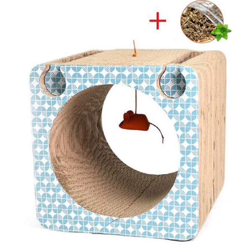 GDDYQ Cat Scratch Board, Pet Sharpener With Bell Ball, Paw Care Toy Recyclable Scratch Board