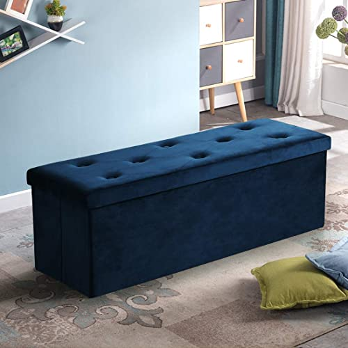 ASLIFE Folding Storage Ottoman Bench Foot Rest Stool Chest Review