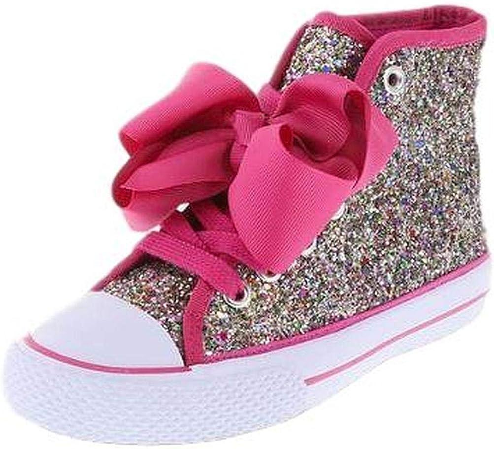 1 JoJo SIwa Girls Rainbow Glitter Shoe Sneaker High Top