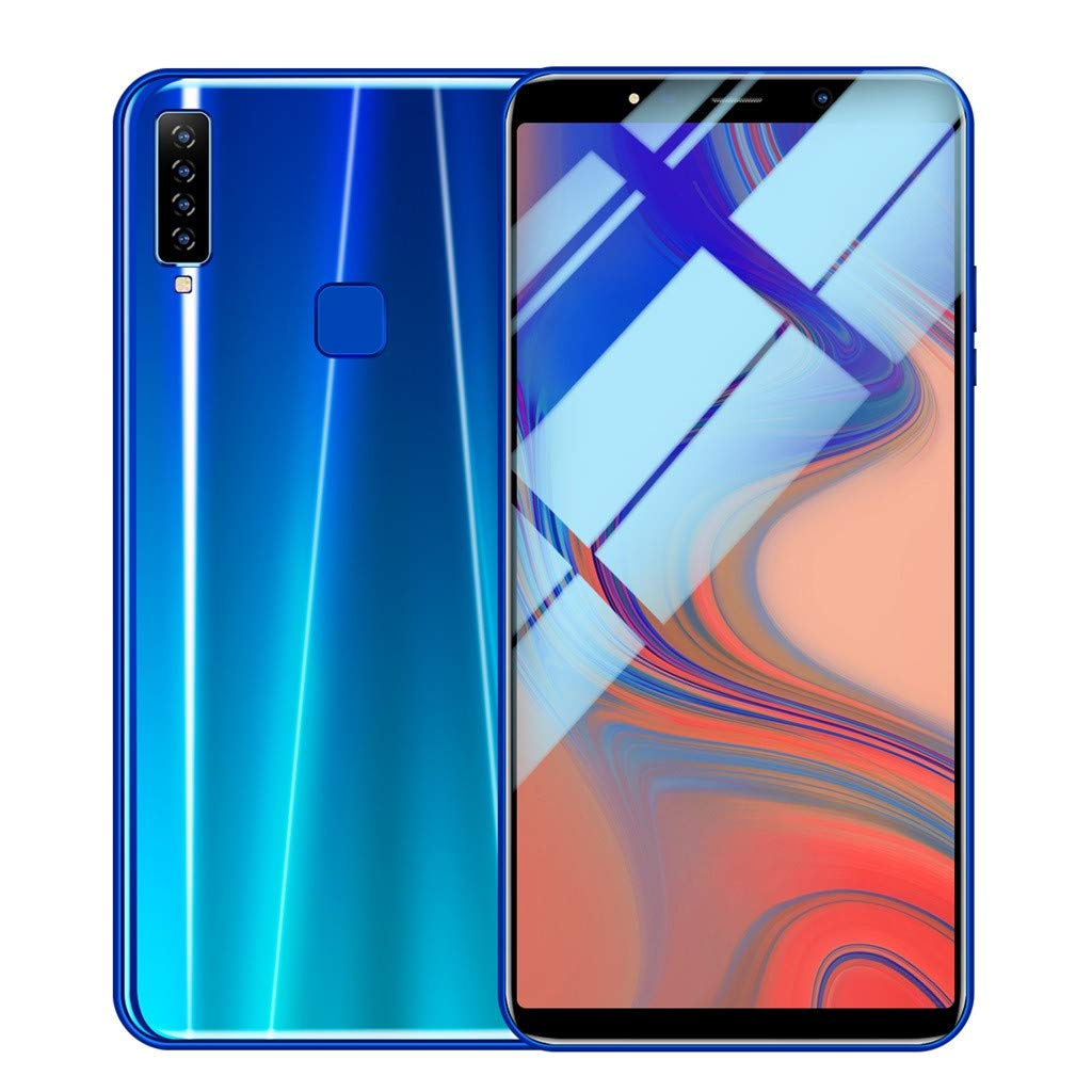 Weite Eight Cores 6.1'' Full Screen 3G Unlocked Smartphone with Finger Print Sensor, Supports Face Recognition/Android 8.1 IPS/16GB/Four HD Camera/Dual SIM Card/3800Mah Lithium-ion Battery (Blue) by Weite (Image #3)