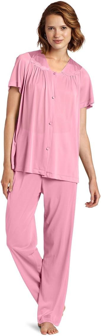 Amazon Com Vanity Fair Colortura Sleepwear Women S Short Sleeve Pajama Set Vf 90107 Xxl Clothing