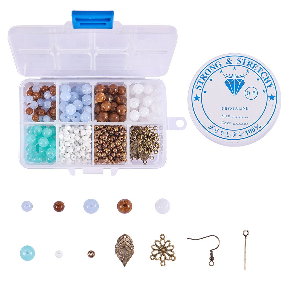 Antique Bronze SUNNYCLUE 1 Box 400+pcs DIY 1 Set Jewelry Making Kit Jewelry Making Supplies Bead Beading Starter Kit Jewelry Findings for Adults Girls Women Beginners