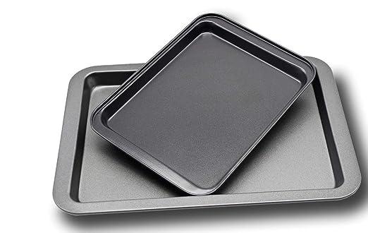 Cmyyjcc - Bandeja de horno para pizza (antiadherente, tamaño ...