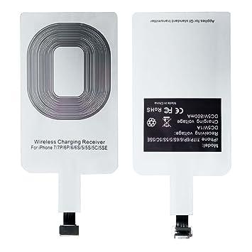 Kit de Cargador Inalámbrico Qi, universal, con receptor de tarjeta, para smartphones, con conector microUSB