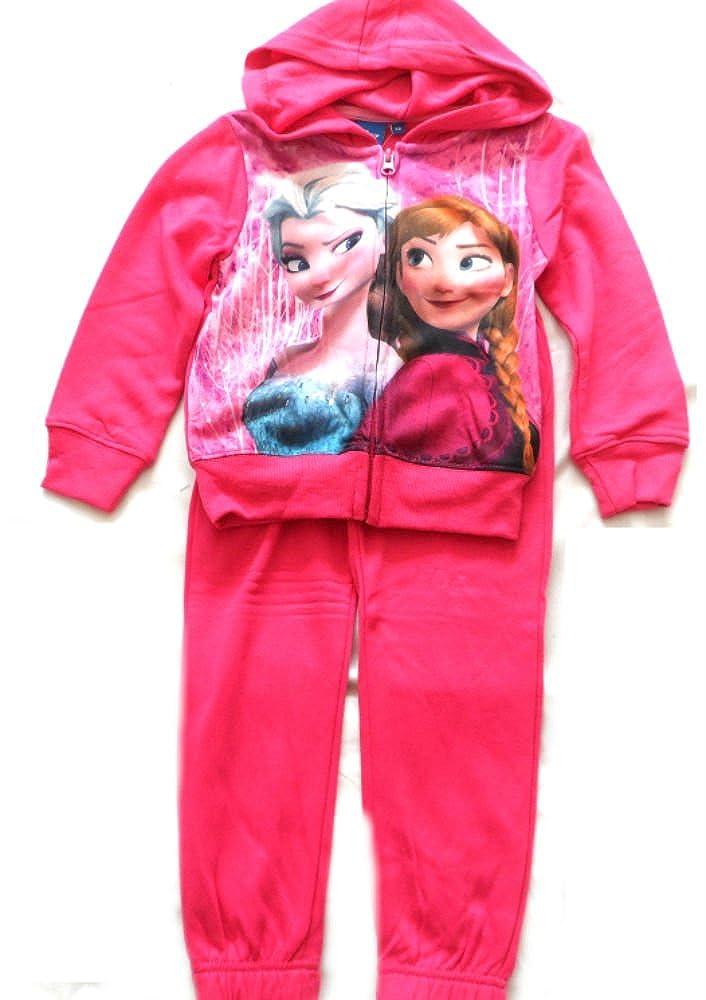 Disney - Chándal - para niña rosa Fushcia 4 años: Amazon.es: Ropa ...