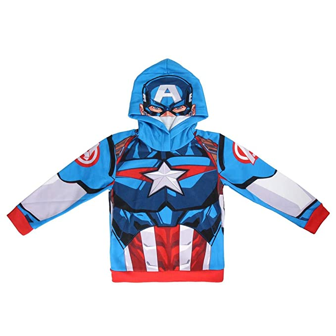 Sudadera Avengers Capitán América con Capucha (7/8 años)