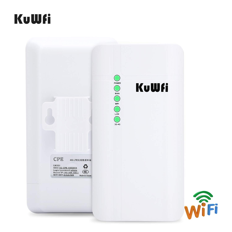 KuWFi Outdoor 4G LTE CPE WiFi Router con Ranura para Tarjeta SIM ...