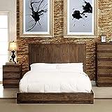 247SHOPATHOME Idf-7624EK-6PC Bedroom-Furniture-Sets, King, Oak